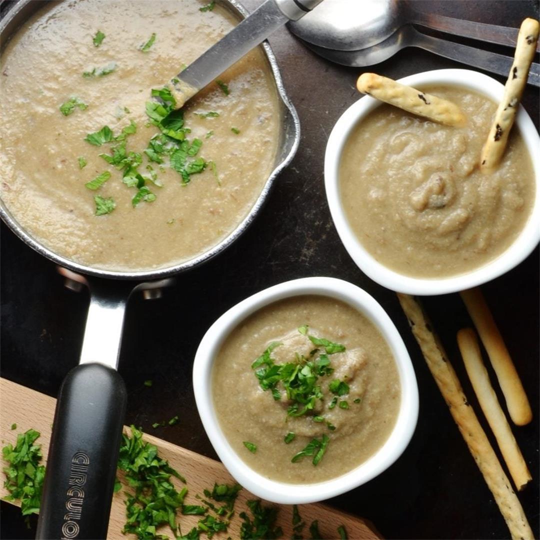 Creamy Mushroom Potato Soup (Dairy Free)