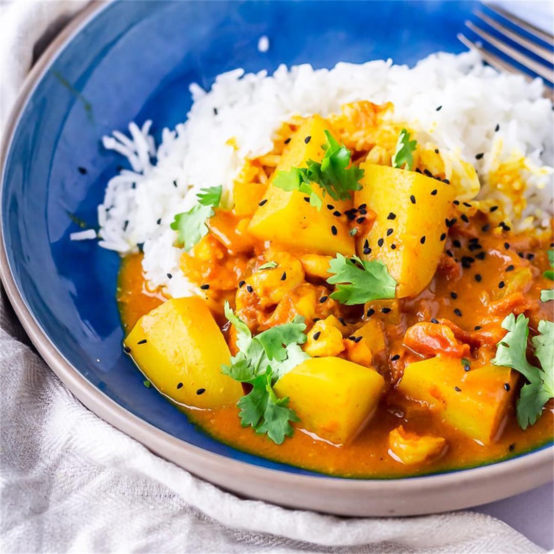 Creamy Prawn Curry with Potato