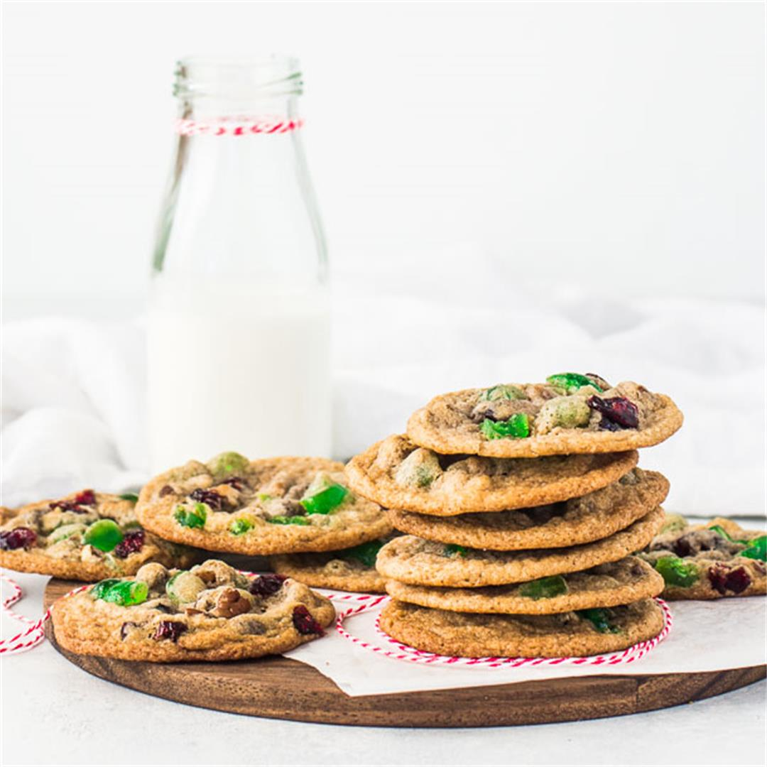 One Bowl Fruitcake Cookies