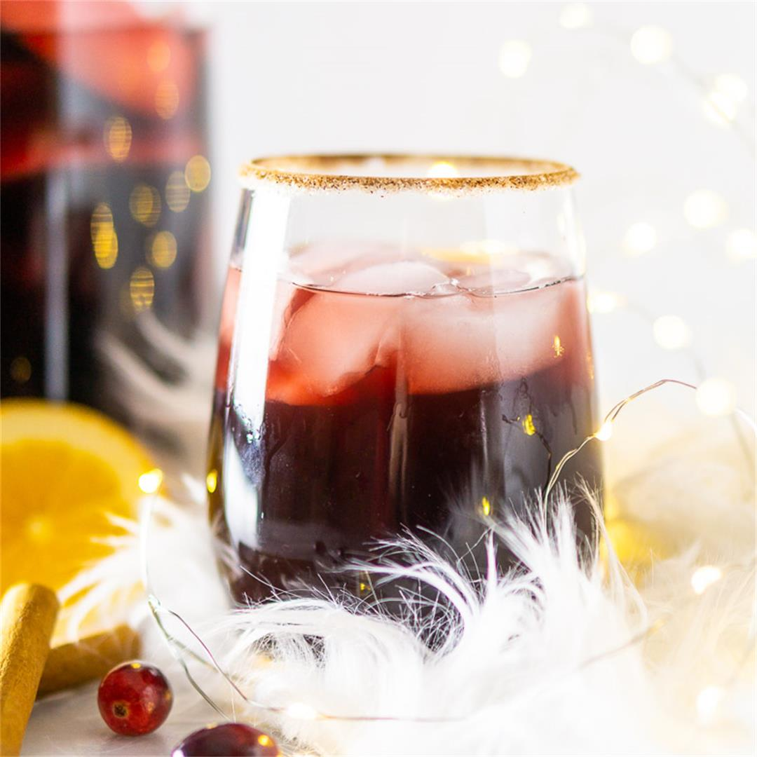 Cranberry-Apple Cider Holiday Sangria
