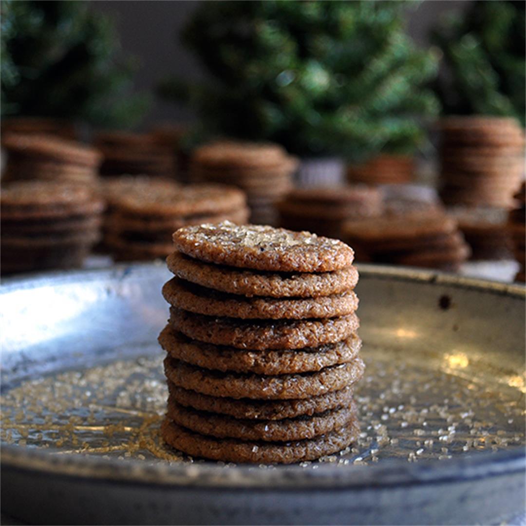 Mini Sorghum Ginger Cookies