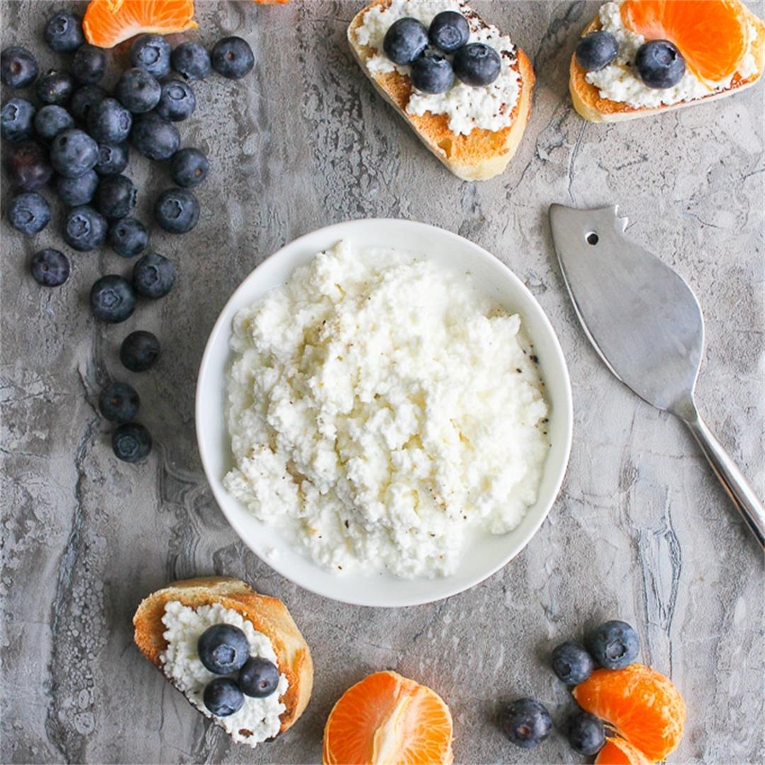 How to Make Ricotta + Small Curd Cottage Cheese