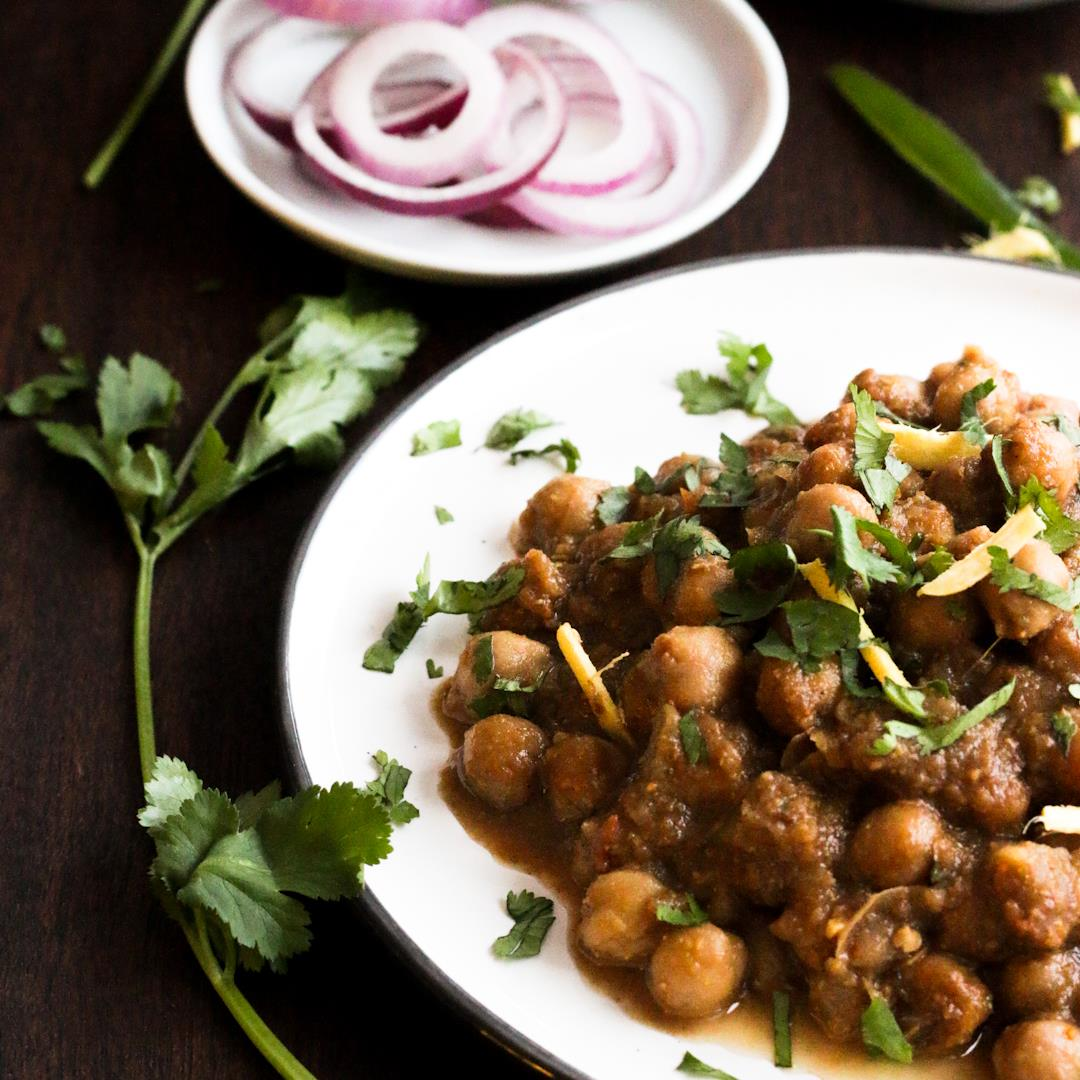 Traditional Indian Chickpea curry