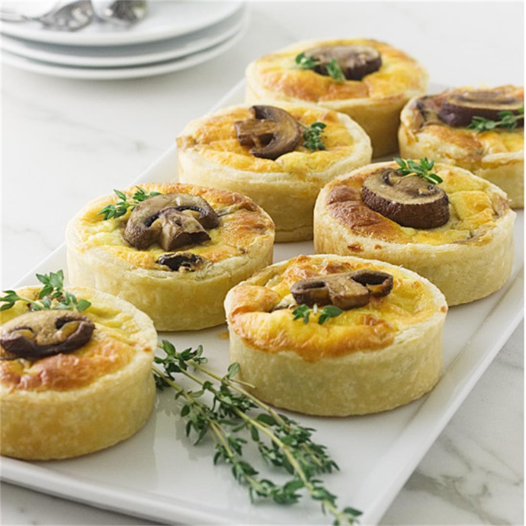 mushroom and goat cheese tarts