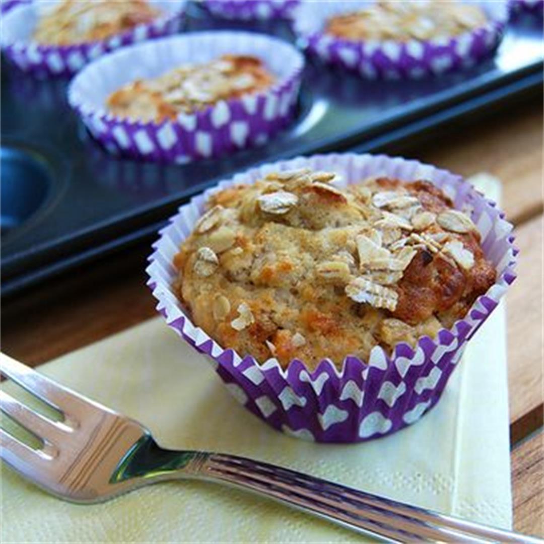 Quark, Oat & Apricot Breakfast Muffins