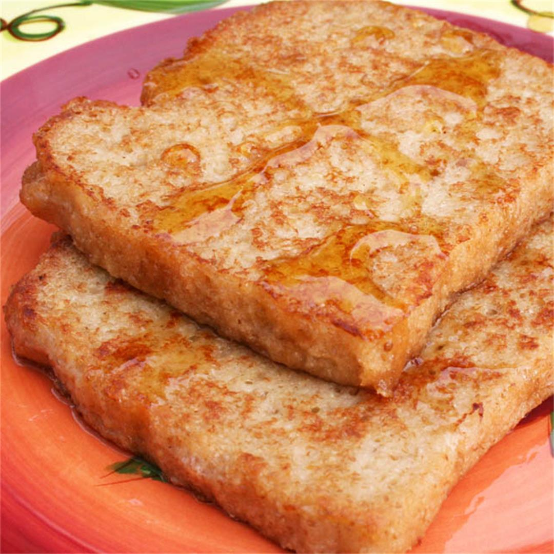 French Toast with Vegan Nog