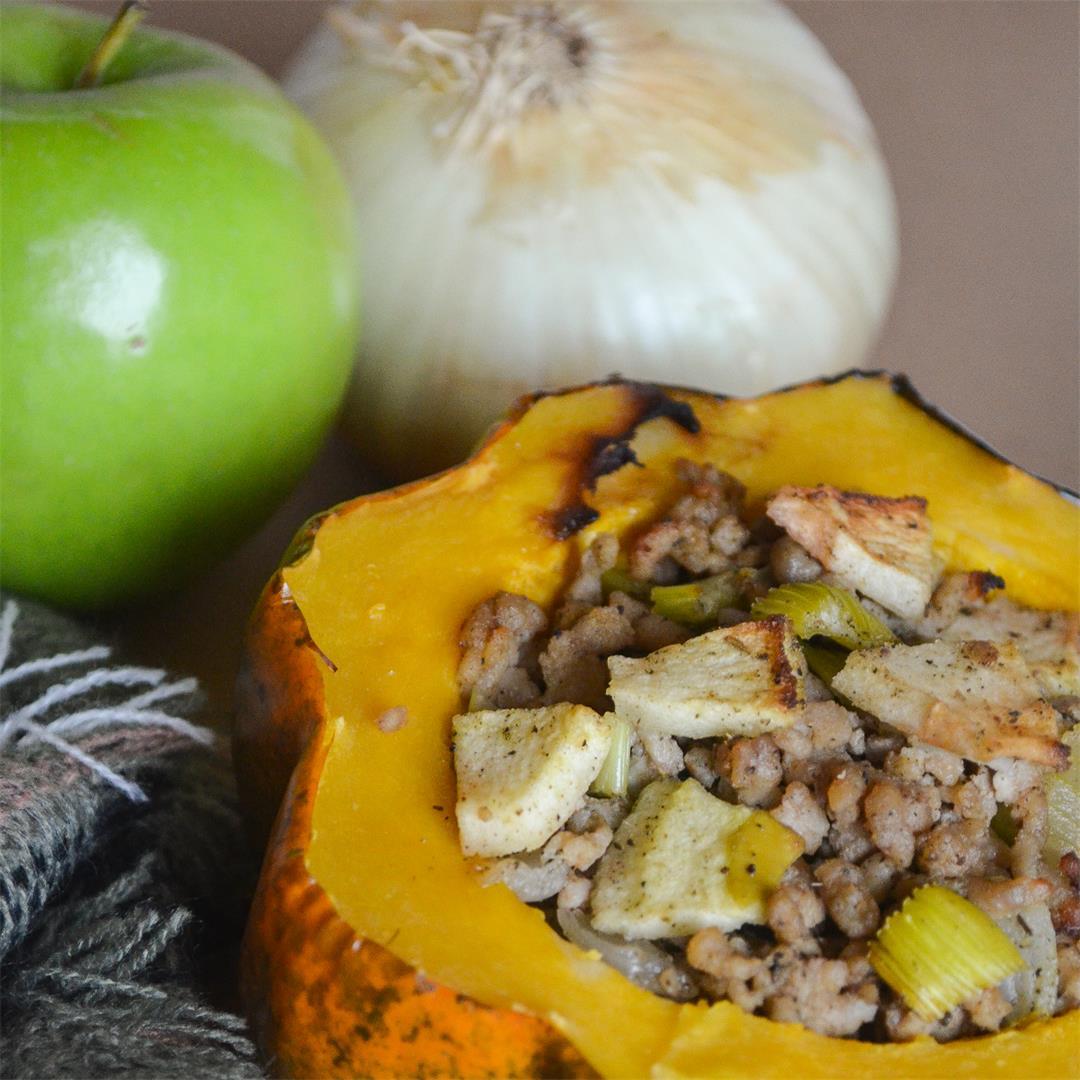 Sage & Apple Stuffed Acorn Squash