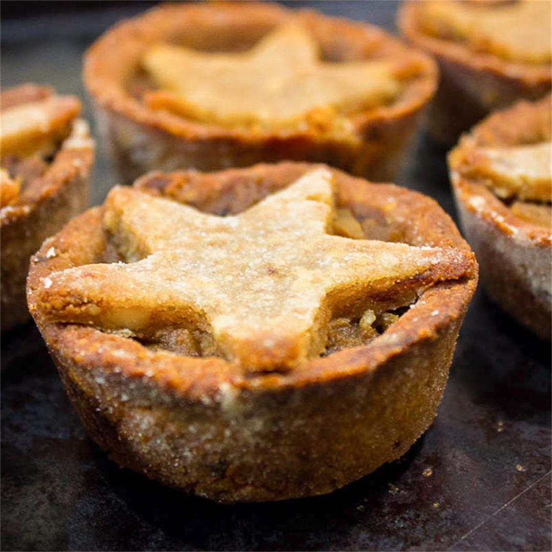 Festive Mince Pies (vegan + gf)