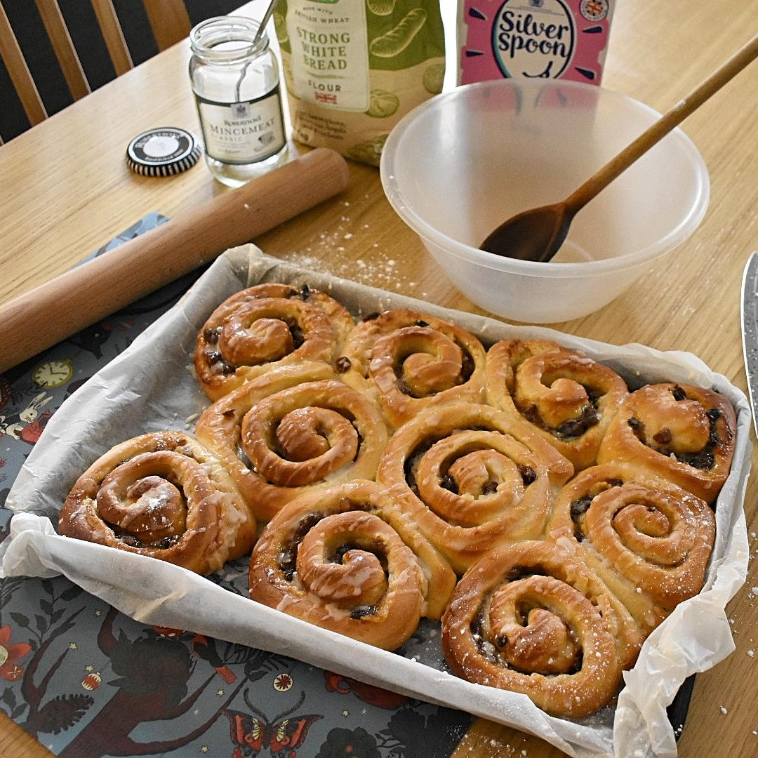 Festive Mince and Marzipan Rolls