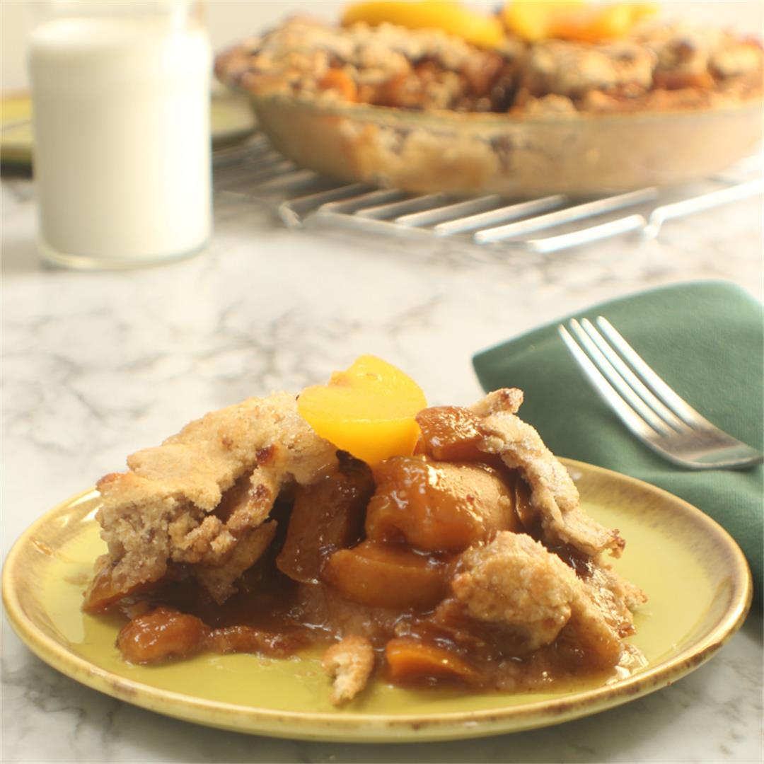 Coconut Peach Pie (gluten free, dairy free)