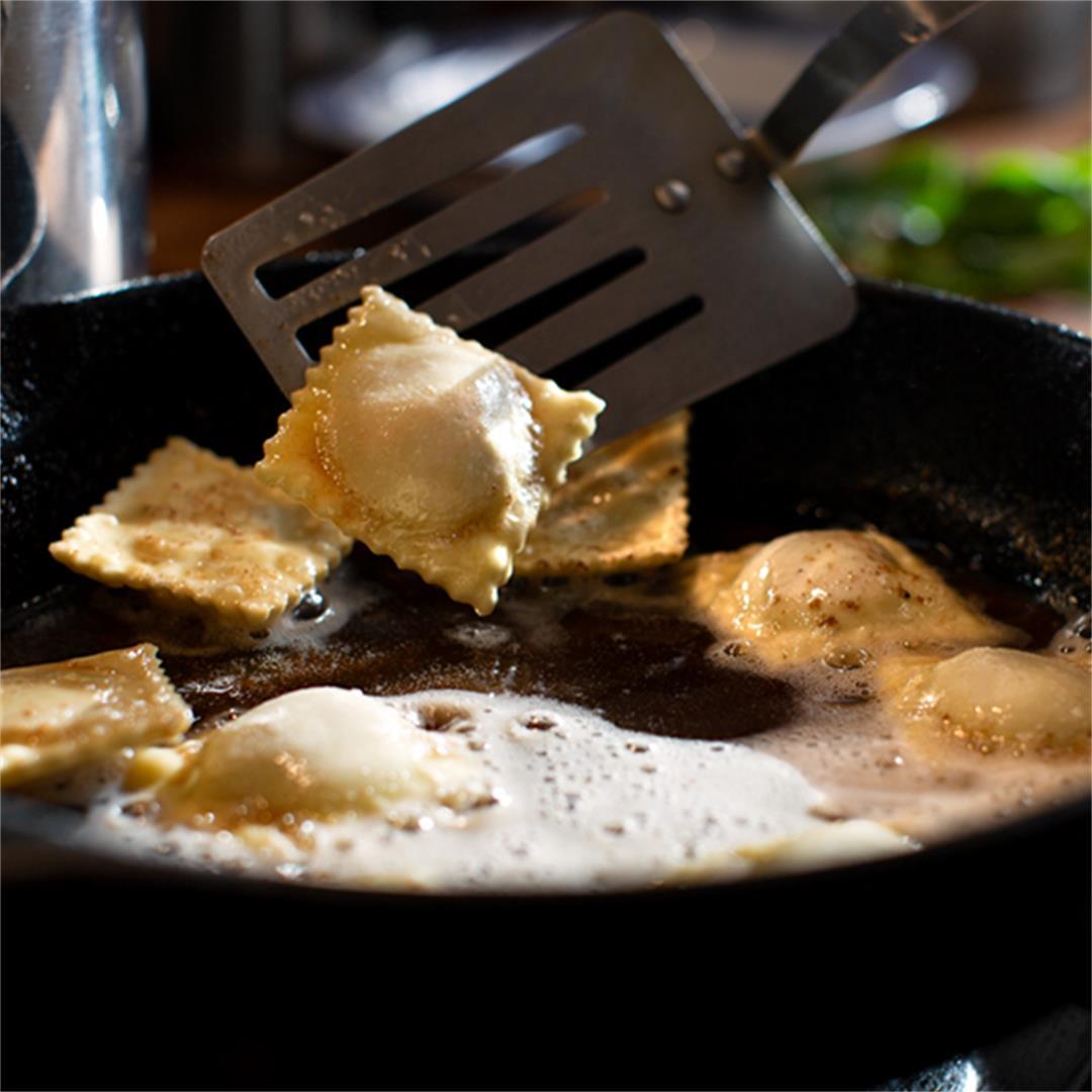 Homemade Vegan Butternut Squash Ravioli