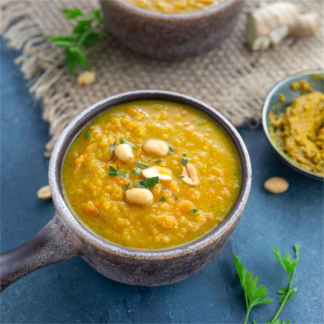 Chunky Carrot Lentil Curry Soup