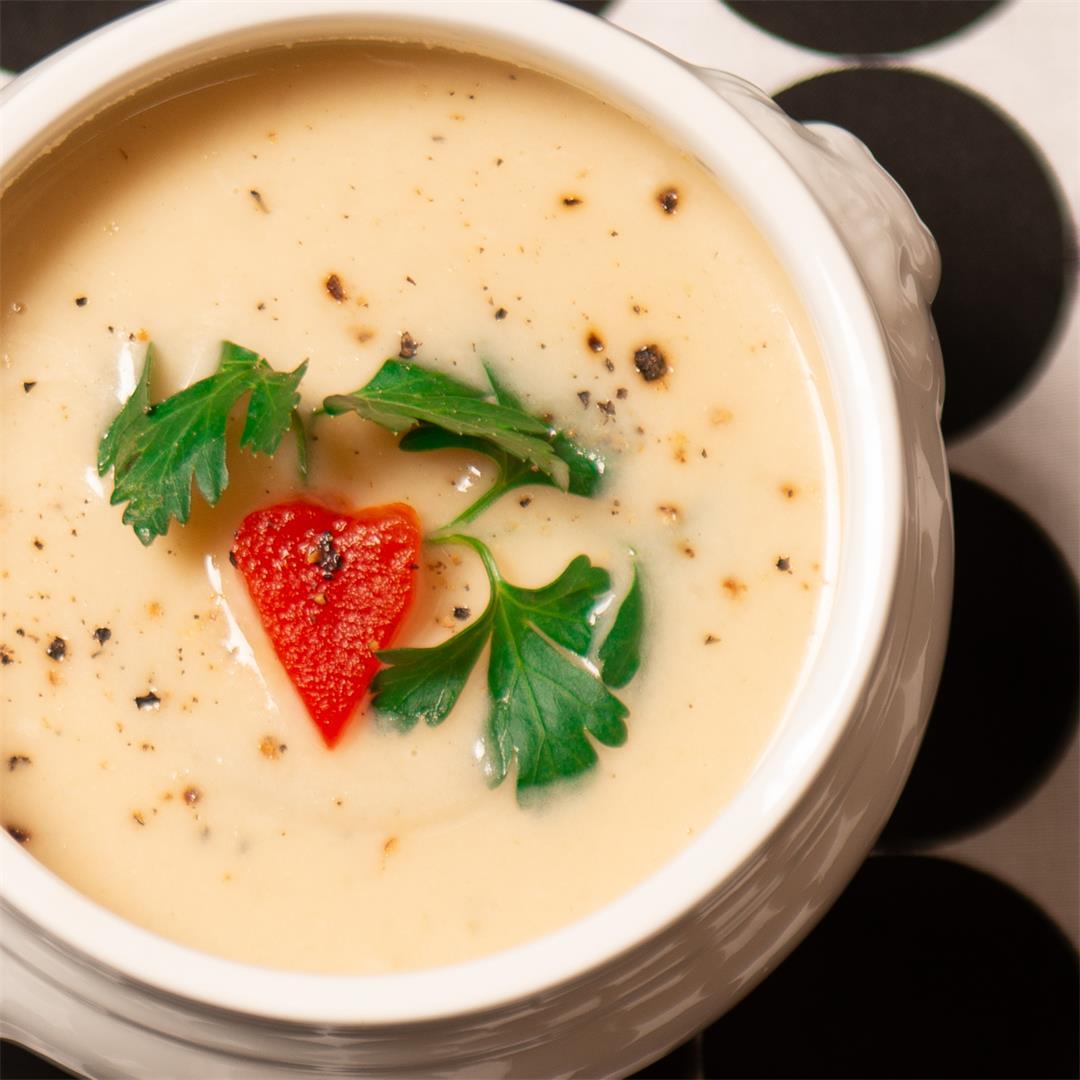 Cauliflower, Potato and Cheese Soup