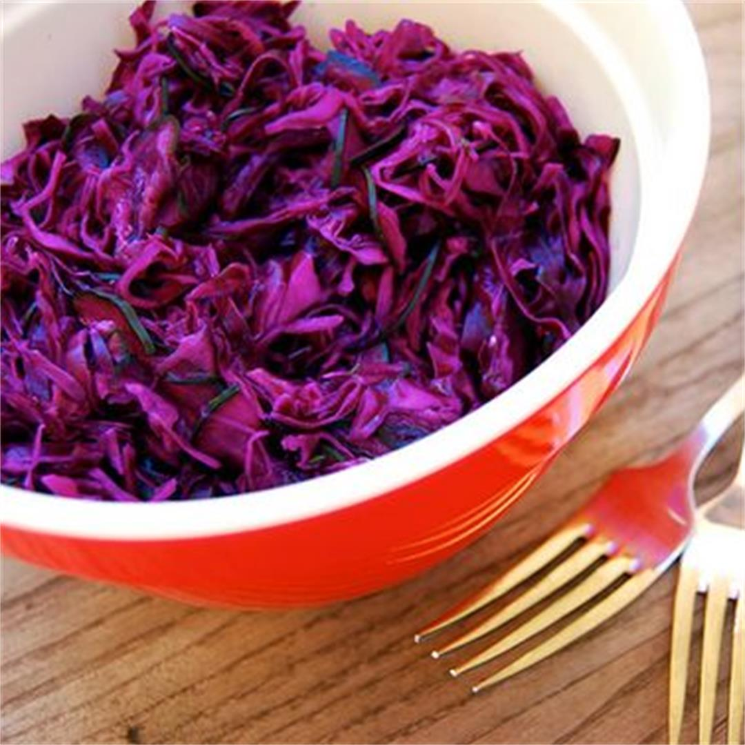 Purple Cabbage Slaw with Cucumber & Dill