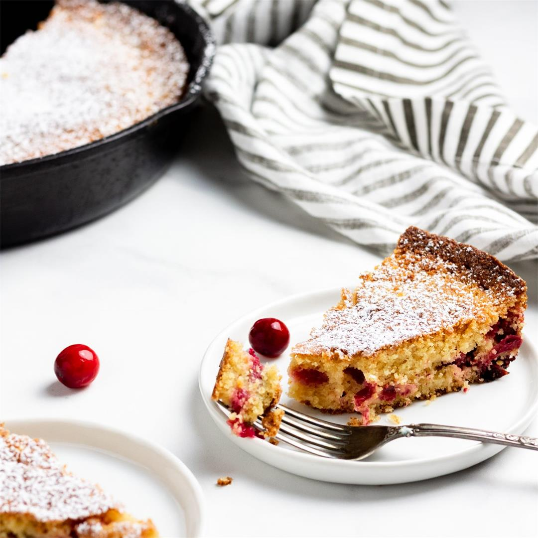 Cranberry Cornmeal Skillet Cake