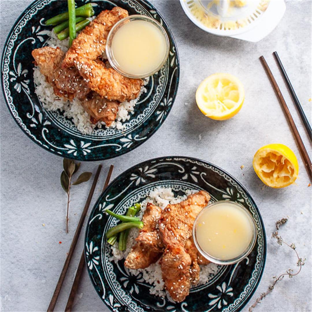 Healthy Asian Lemon Chicken Tenders