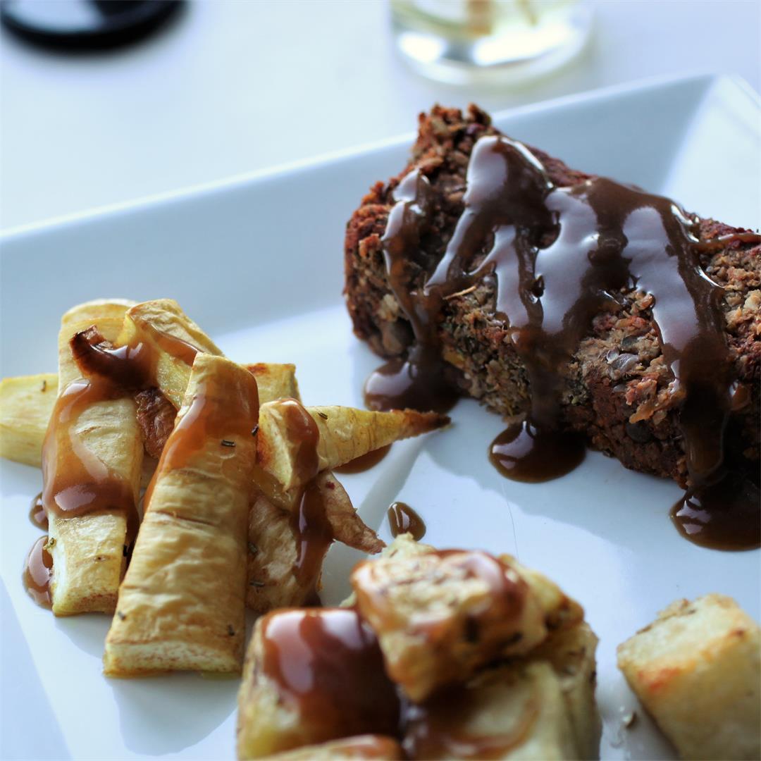 Butternut Squash & Lentil Roast (Vegan)