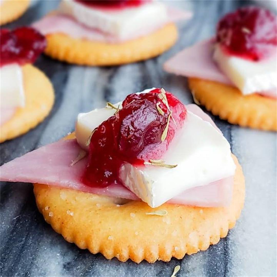 Ham, Brie and Cranberry Bites
