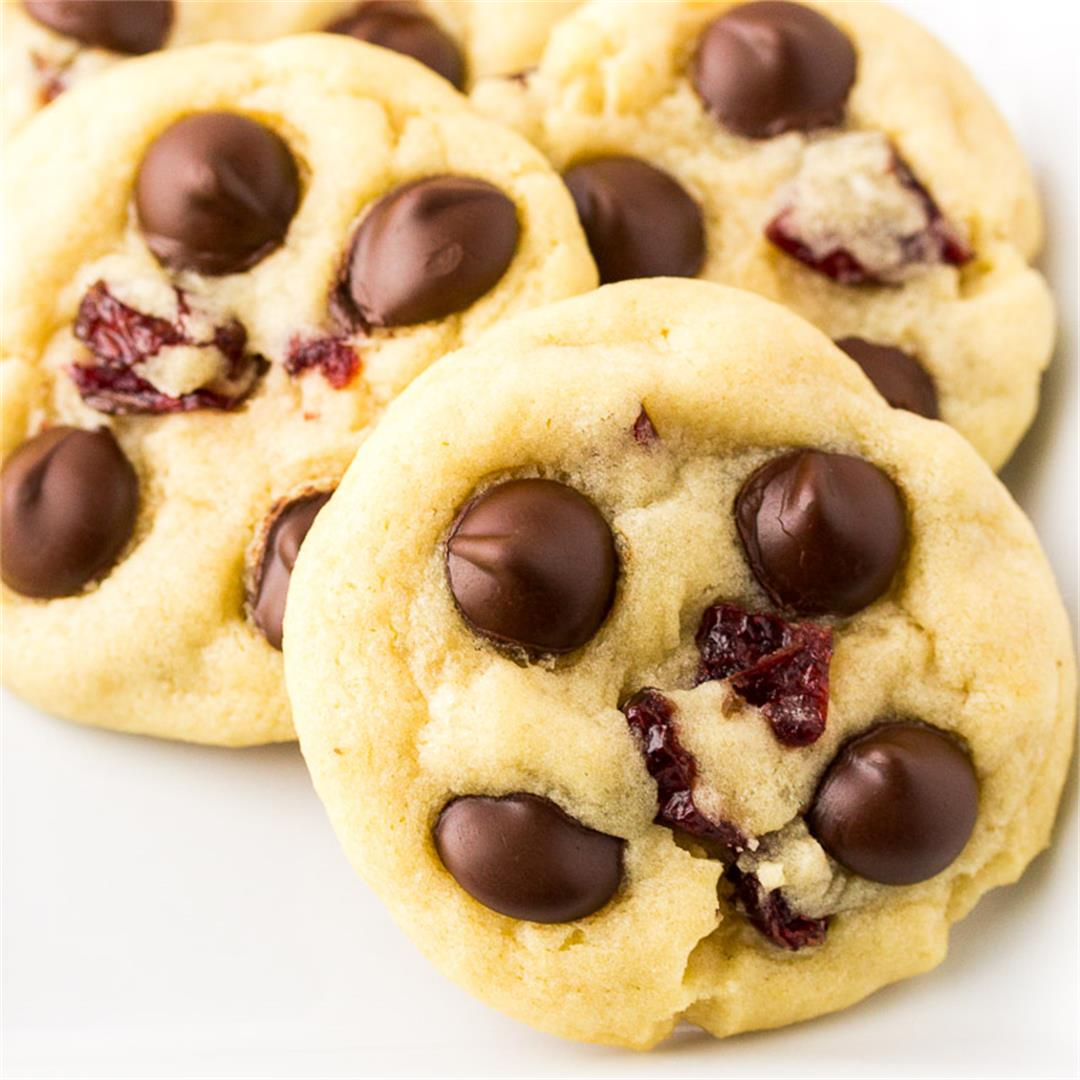 Soft Baked Chocolate Chip Cranberry Cookies