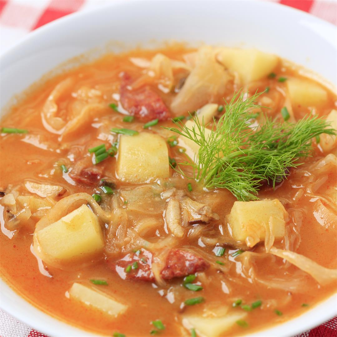 Cabbage & Kielbasa Soup; Instant Pot Friendly