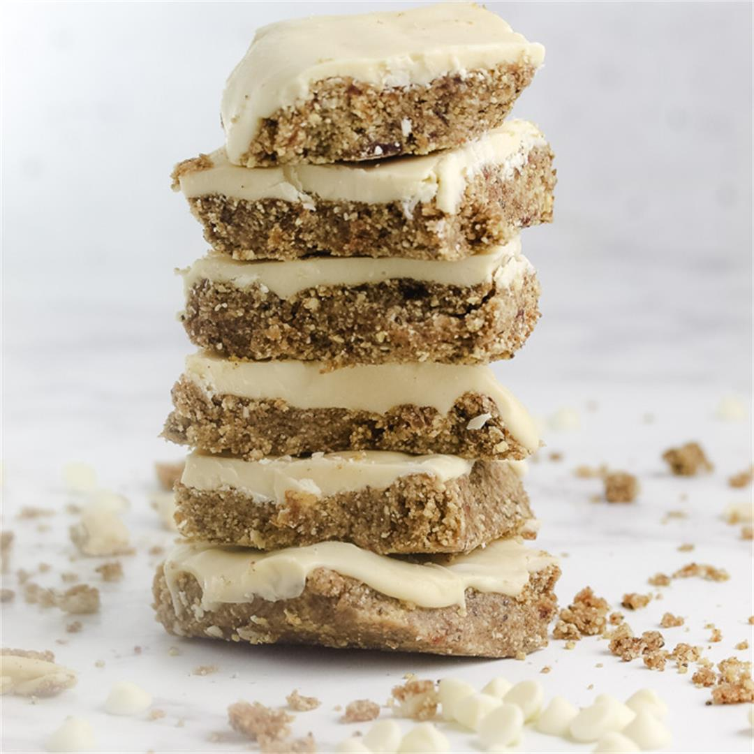 White Chocolate Tahini Bars