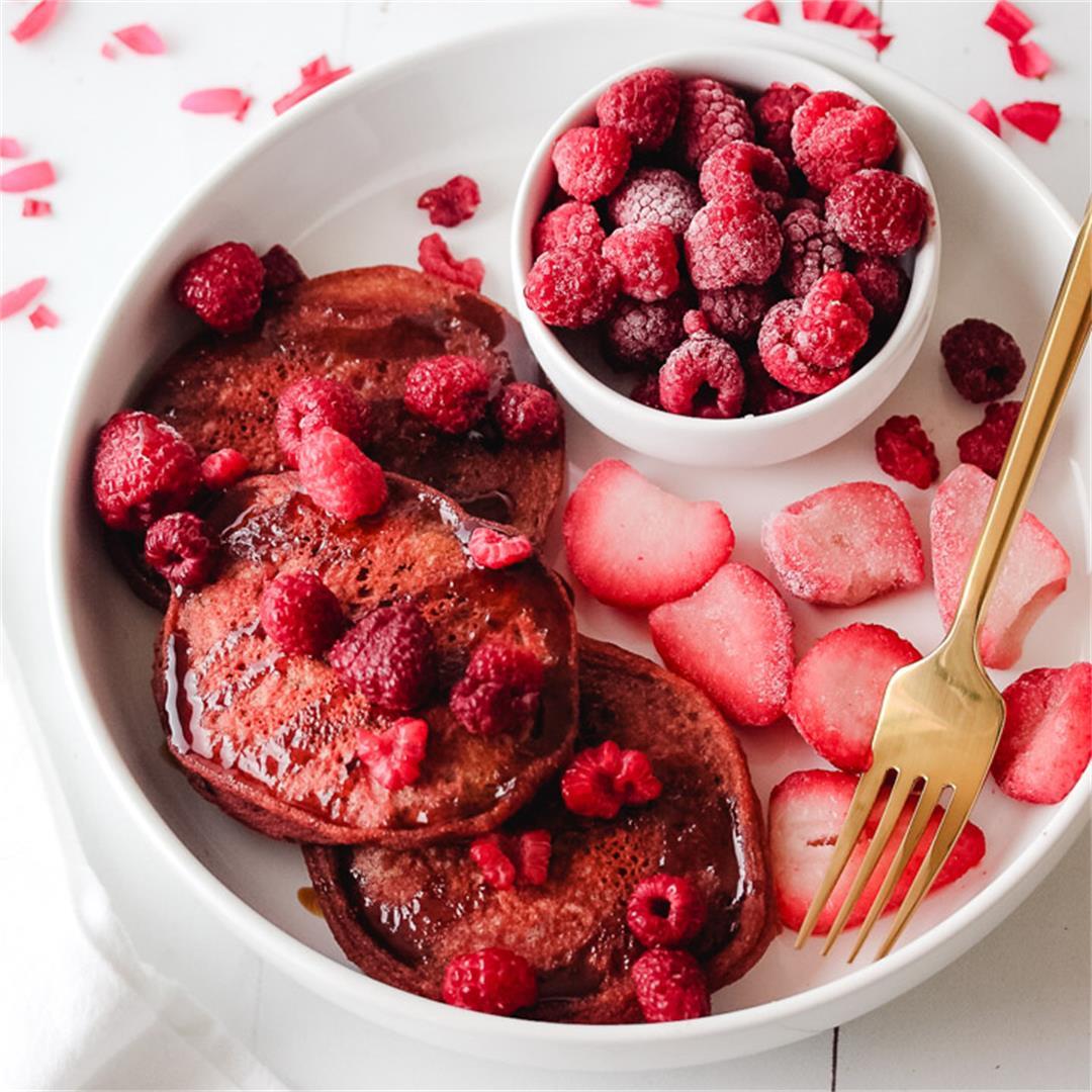 Beet Protein Pancakes