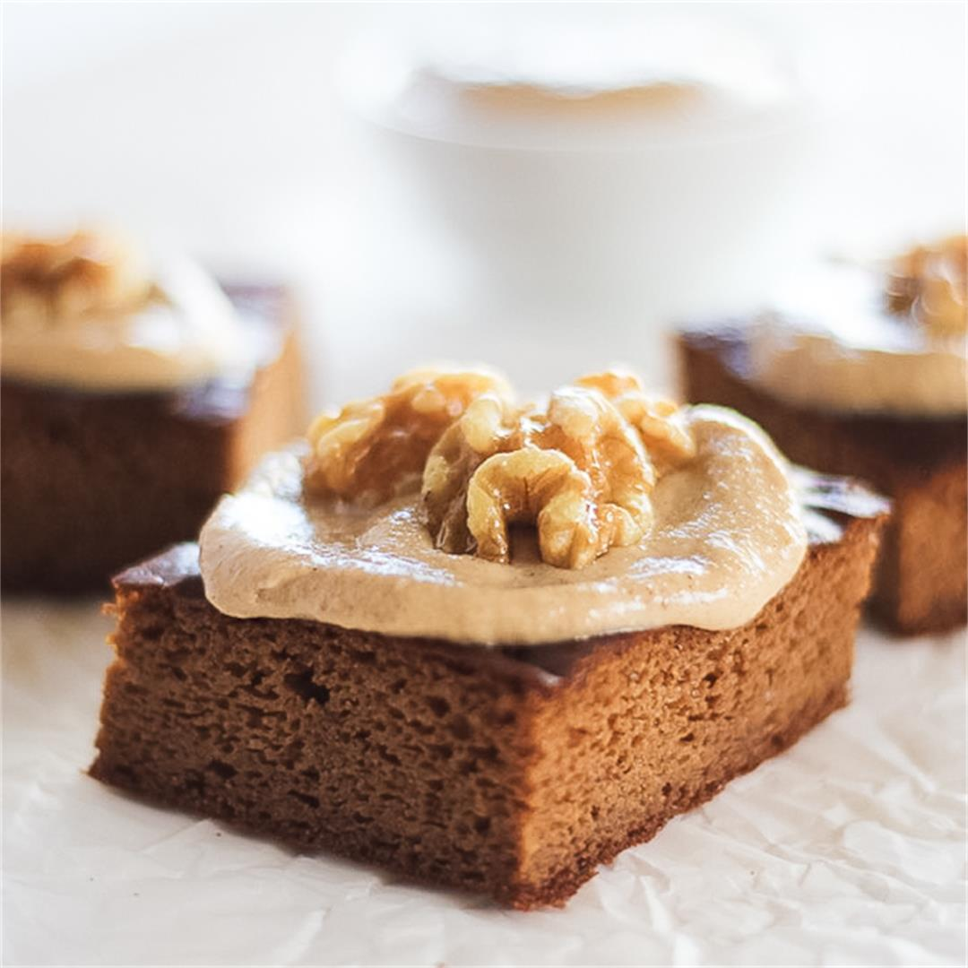 Paleo Pumpkin Bars with Dairy Free Maple Walnut Frosting