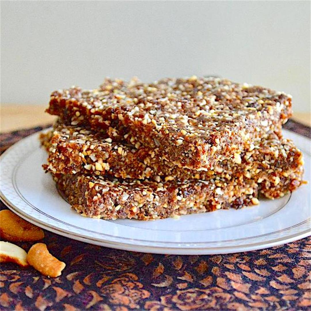 Raisin Coconut Cashew Bars