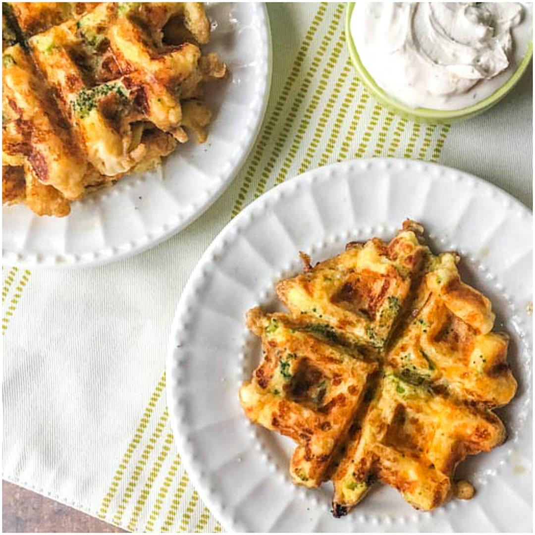 Broccoli & Cheddar Low Carb Keto Waffles