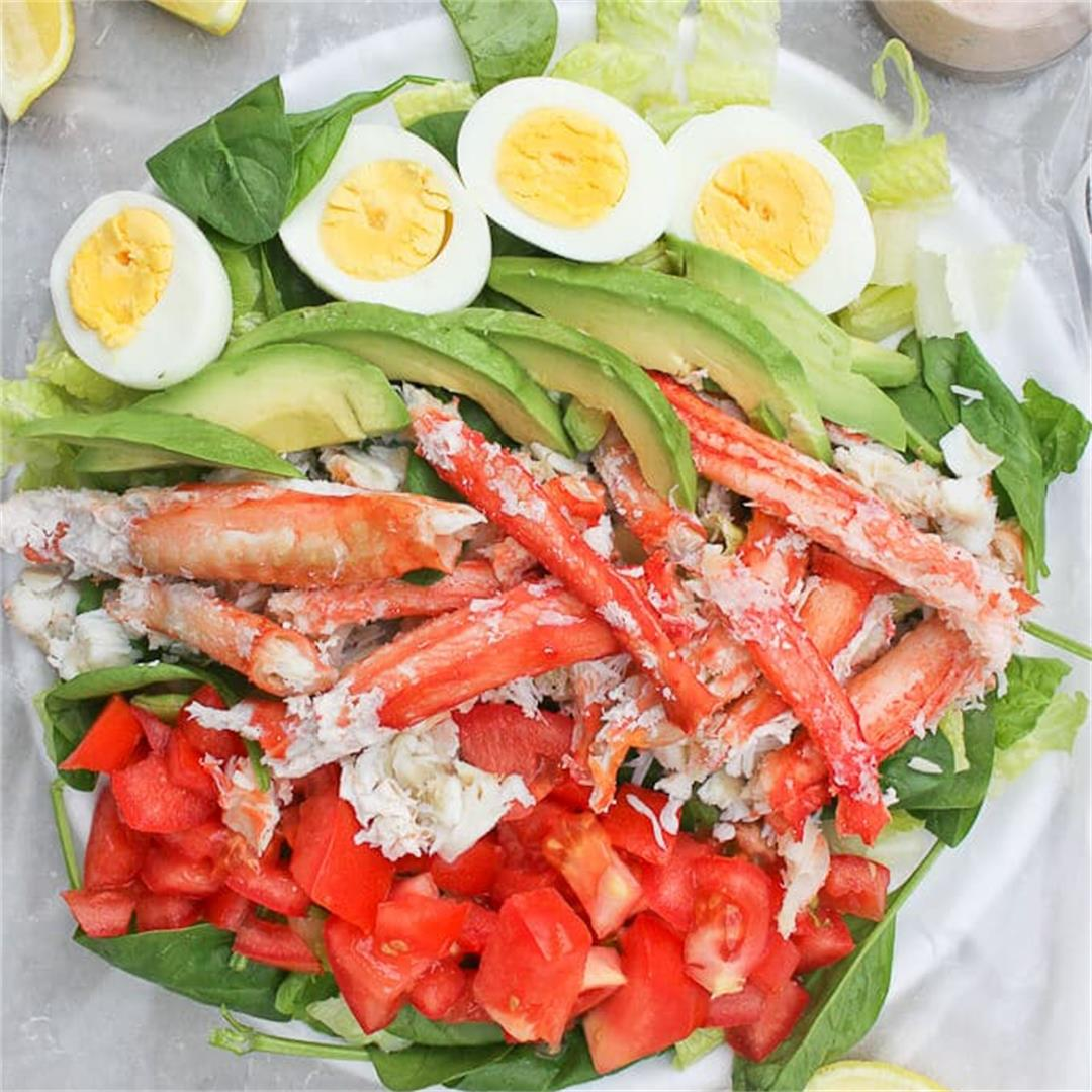 Crab Louie Salad with King Crab