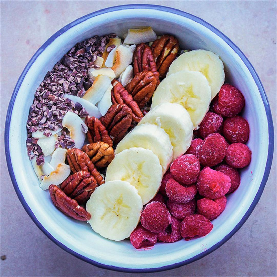 Chocolatey Pecan Chia Cereal (vegan + gf)