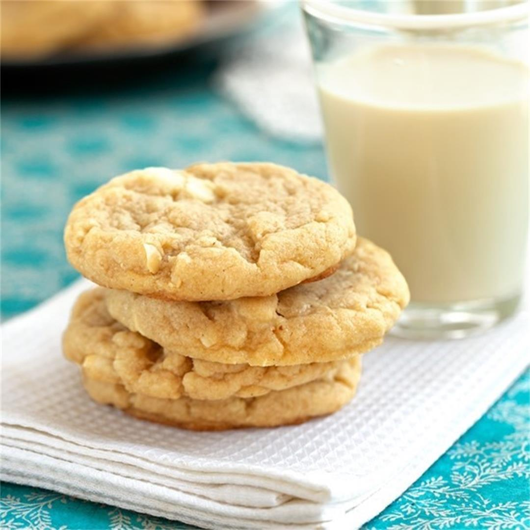 White Chocolate Vanilla Bean Cookies
