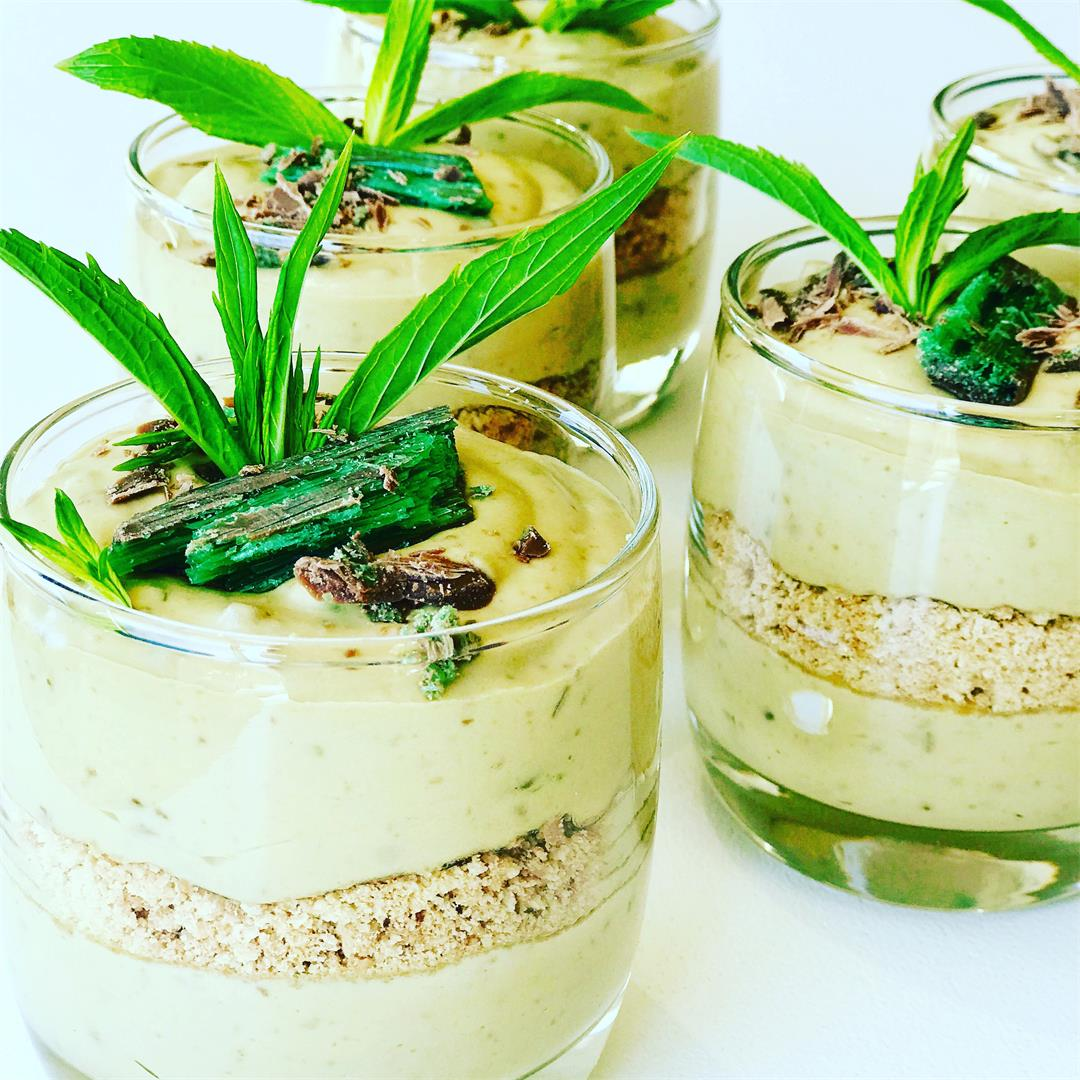 Peppermint Crisp Tart Dessert in a Glass
