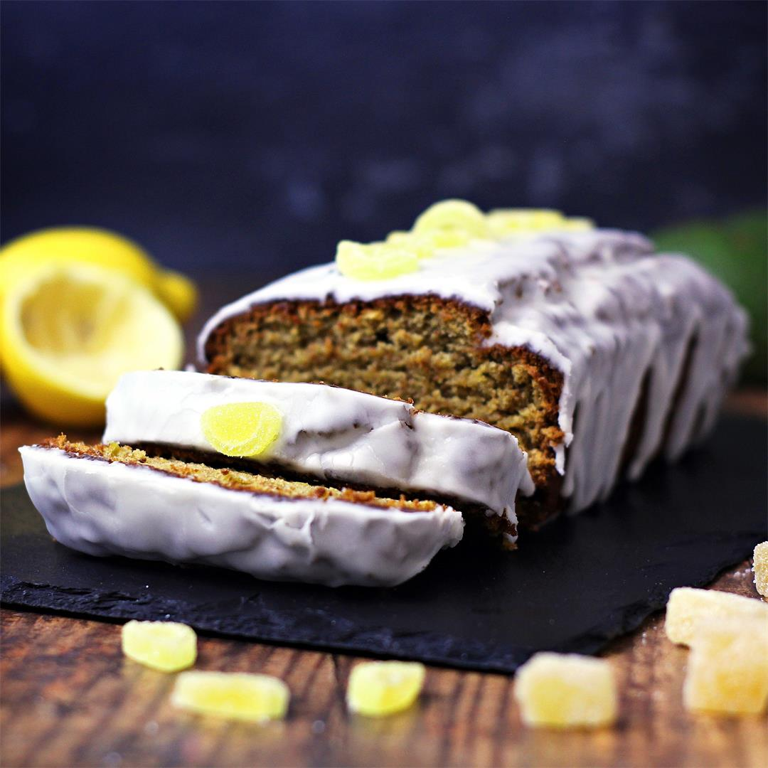 Easy Ginger Avocado Cake with Lemon Drizzle