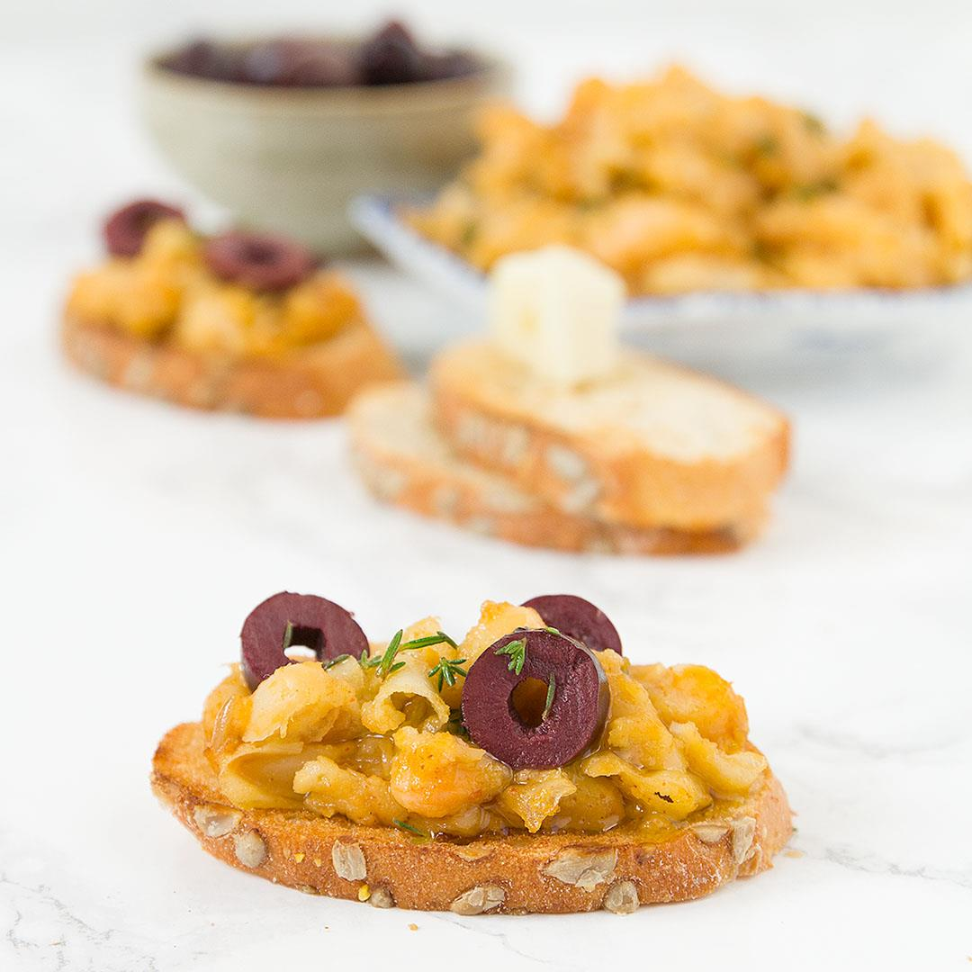 Smoky cannellini beans on toast, the perfect vegan bruschetta