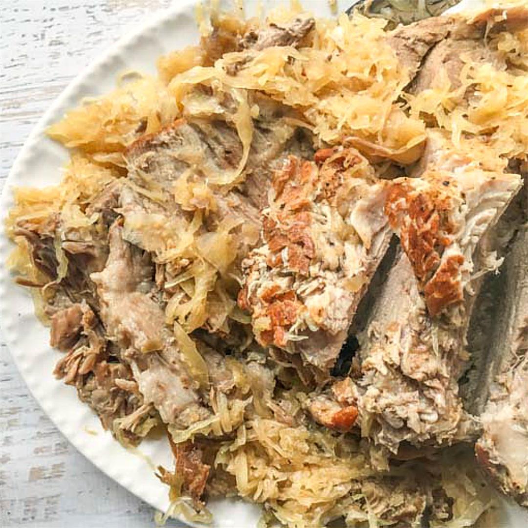 Instant Pot Pork Roast & Sauerkraut