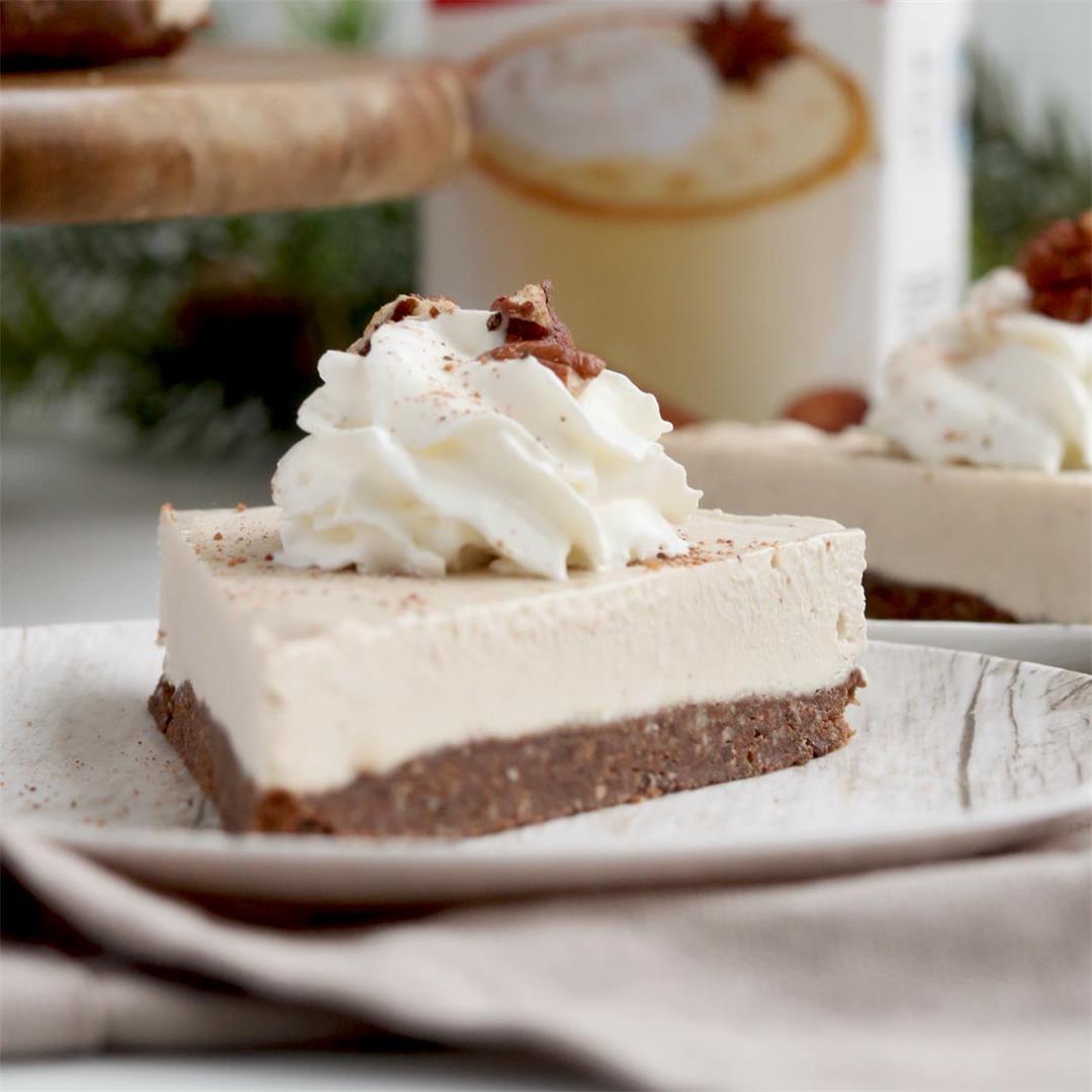Frozen Eggnog Cheesecake With Chocolate Crush