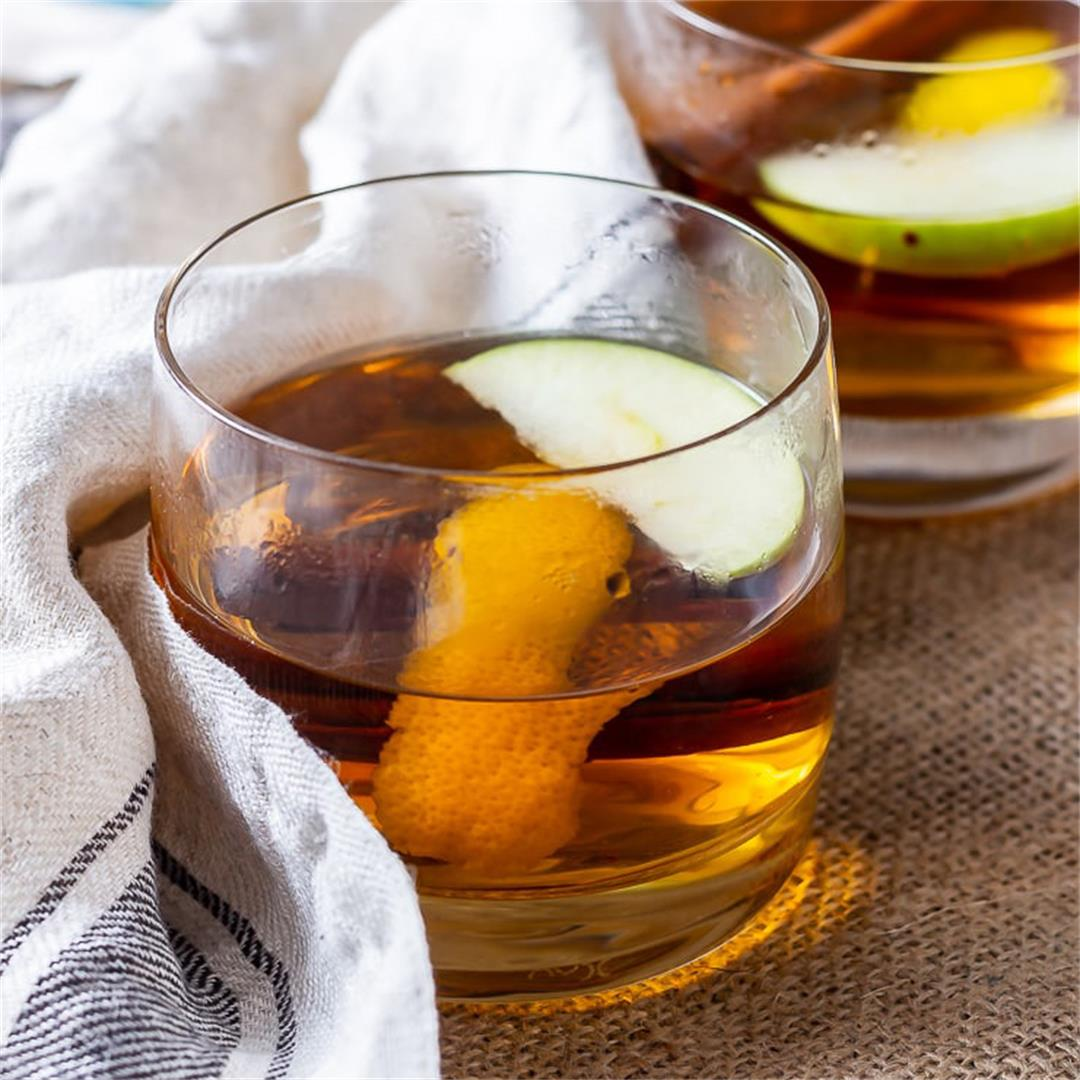 Winter Spiced Apple Cocktail with Rum