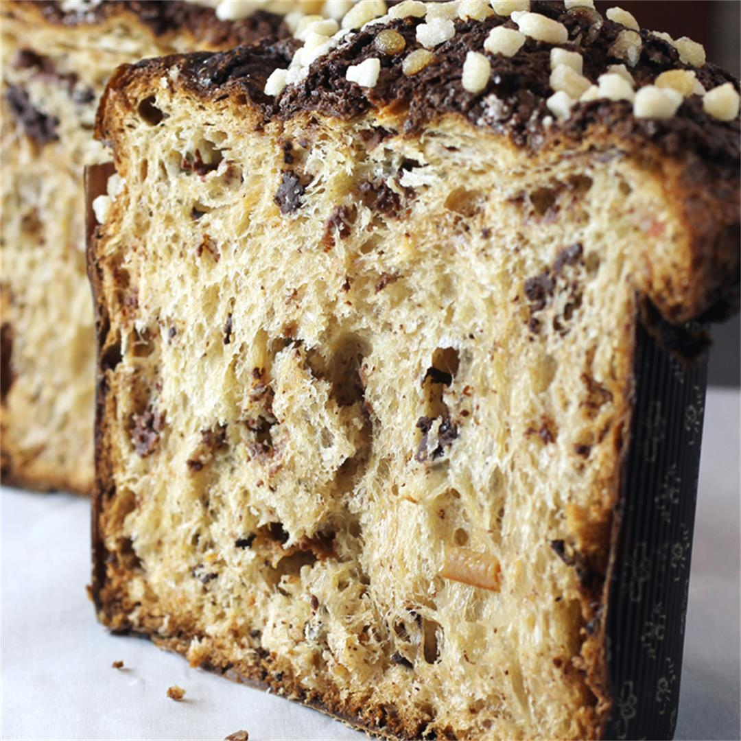 Chocolate and Candied Orange Panettone