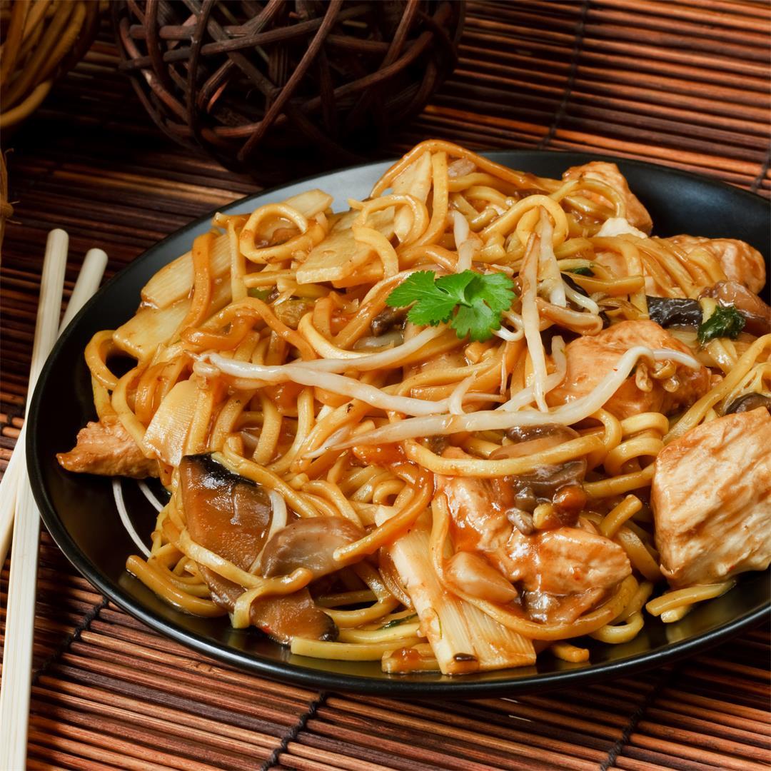 Instant Pot Honey Garlic Chicken Lo Mein