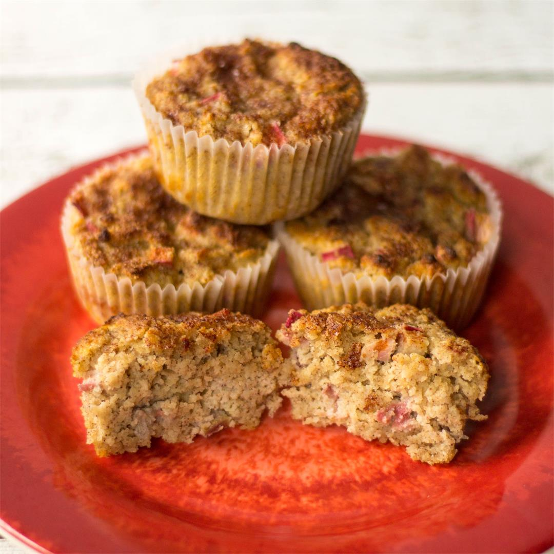 Cinnamon Rhubarb Muffins - Gluten Free