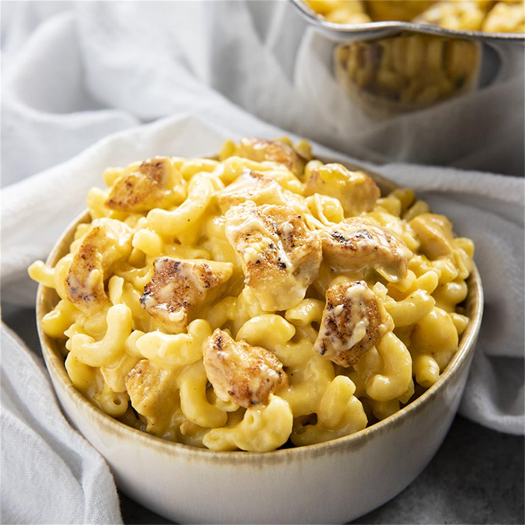 Taco Chicken Mac and Cheese