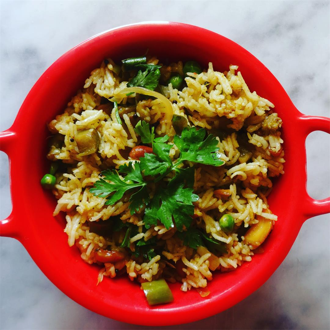 Brinjal / Eggplant Rice Recipe