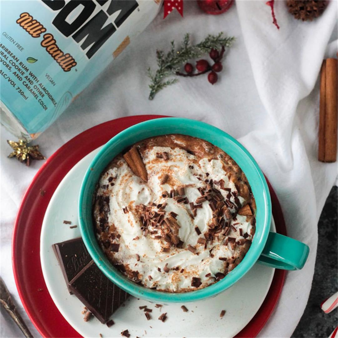 Spiked Cinnamon Hot Cocoa