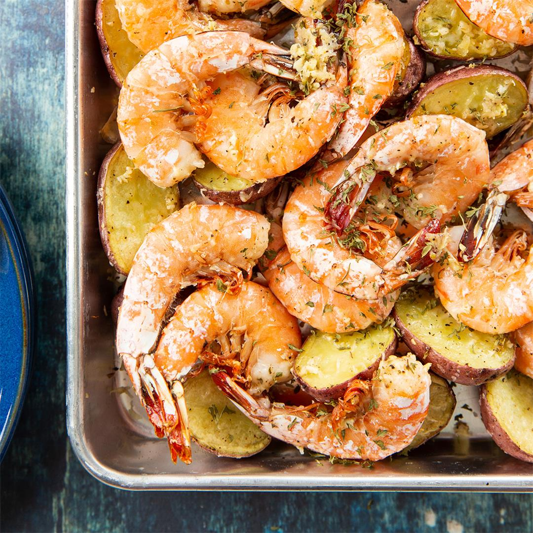 Garlic-Parmesan Roasted Shrimp