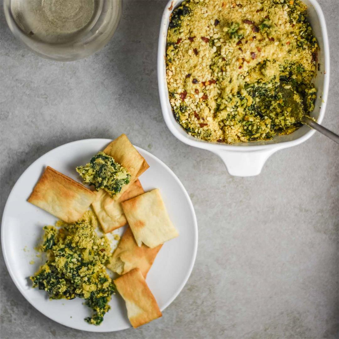 Vegan Spinach Dip with Kale