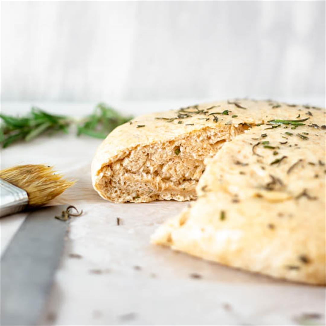 Instant Pot Garlic Rosemary Bread