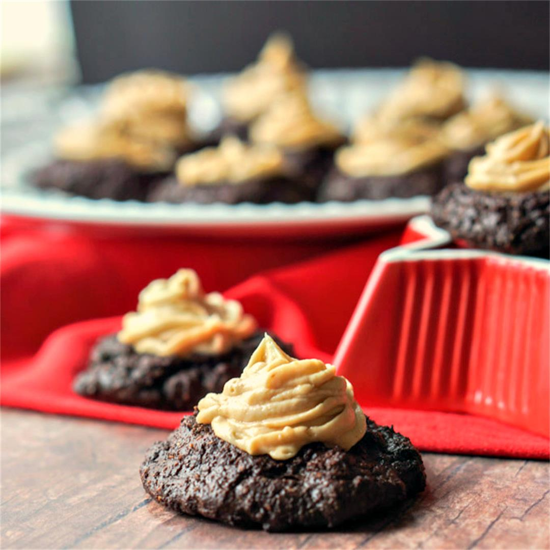 Low Carb Chocolate Peanut Butter Cookies