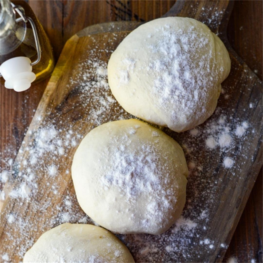 Homemade Pizza Dough By Hand - Crispy and Chewy Crust