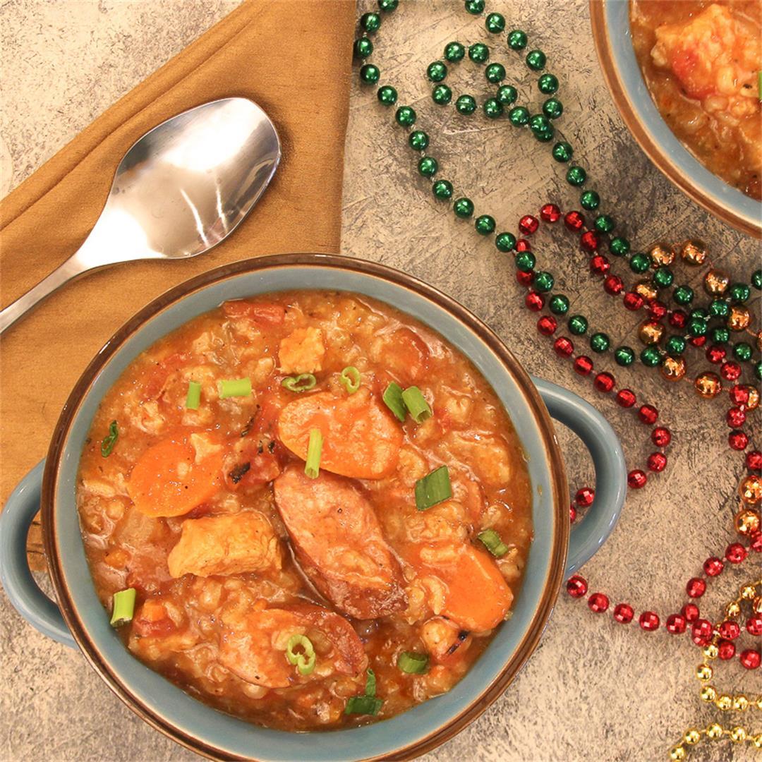 Jambalaya Soup ~ Instant Pot & Stove Top Instructions